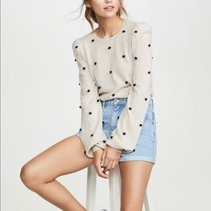 Autumn Cashmere - Puff Sleeve Cashmere Sweater